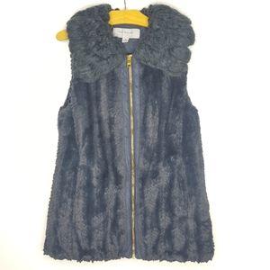 Marc New York Faux Fur Gray Vest XS
